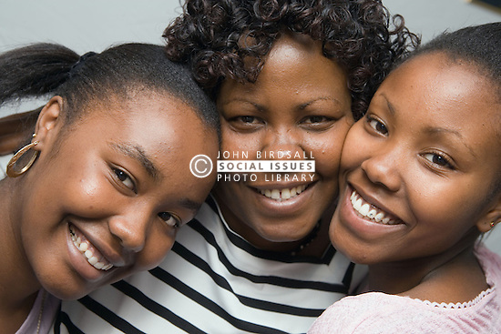 Mother and daughters,