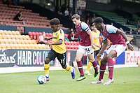Conor Coventry, West Ham U21's and Ademipo Odubeko, force Terrell Egbri, Southend United, wide West Ham U21's during Southend United vs West Ham United Under-21, EFL Trophy Football at Roots Hall on 8th September 2020