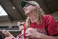 NWA Democrat-Gazette/CHARLIE KAIJO Arkansas Razorbacks fans watch game two of the College Baseball Super Regional, Sunday, June 9, 2019 at Baum-Walker Stadium in Fayetteville. Ole Miss forces a game three with a 13-5 win over the Razorbacks