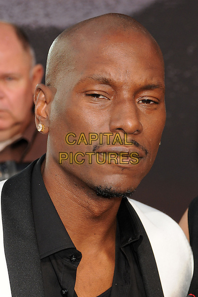 "Tyrese Gibson.""Fast & Furious 6"" Los Angeles Premiere held at the Universal Gibson Amphitheatre, Universal City, California, USA..May 21st, 2013.headshot portrait black white shirt goatee facial hair.CAP/ADM/BP.©Byron Purvis/AdMedia/Capital Pictures"