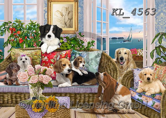 Interlitho-Franco, REALISTIC ANIMALS, REALISTISCHE TIERE, ANIMALES REALISTICOS, paintings+++++,dogs,KL4563,#a#, EVERYDAY ,puzzle,puzzles
