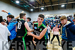 Daire Kennelly (14) Mercy Mounthawk players celebrate after defeating CBS The Green U19 A Boys Subway Schools Cup semi final at Tralee Sports Complex on Thursday.