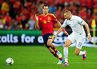 Karim BENZEMA   - 23.06.2012 - Espagne / France -1/4 Finale Euro 2012 .Photo : Mathieu Louet / Icon Sport.