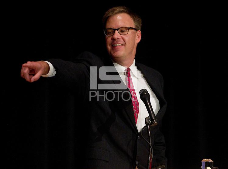 Jay Mortenson during his speech at Stanford Athletics Hall of Fame, event on November 11, 2011, at the Alumni Center.  ( Norbert von der Groeben )