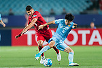 Jiangsu FC Defender Zhou Yun (R) fights for the ball with Shanghai FC Forward Elkeson De Oliveira Cardoso (L) during the AFC Champions League 2017 Round of 16 match between Jiangsu FC (CHN) vs Shanghai SIPG FC (CHN) at the Nanjing Olympic Stadium on 31 May 2017 in Nanjing, China. Photo by Marcio Rodrigo Machado / Power Sport Images