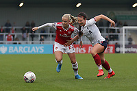 Beth Mead of Arsenal and Leighanne Robe of Liverpool during Arsenal Women vs Liverpool Women, Barclays FA Women's Super League Football at Meadow Park on 24th November 2019