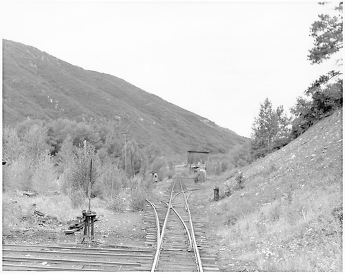 RGS Hesperus yard looking northbound.  The depot burned on May 4, 1940.<br /> RGS  Hesperus, CO  Taken by Barriger, John W. III - 1940