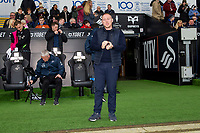 Steve Cooper Head Coach of Swansea City during the Sky Bet Championship match between Swansea City and West Bromwich Albion at the Liberty Stadium in Swansea, Wales, UK. Saturday 07 March 2020