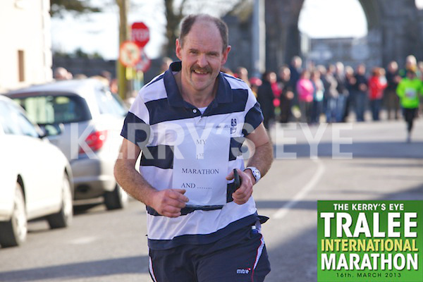 Richard Hurley who took part in the Kerry's Eye, Tralee International Marathon on Saturday March 16th 2013.