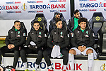 05.02.2019, Signal Iduna Park, Dortmund, GER, DFB-Pokal, Achtelfinale, Borussia Dortmund vs Werder Bremen<br /> <br /> DFB REGULATIONS PROHIBIT ANY USE OF PHOTOGRAPHS AS IMAGE SEQUENCES AND/OR QUASI-VIDEO.<br /> <br /> im Bild / picture shows<br /> Ersatzbank Werder Bremen, oben: Martin Harnik (Werder Bremen #09), Claudio Pizarro (Werder Bremen #04), unten: Johannes Eggestein (Werder Bremen #24), Kevin Möhwald / Moehwald (Werder Bremen #06), Marco Friedl (Werder Bremen #32), Milos Veljkovic (Werder Bremen #13), <br /> <br /> Foto © nordphoto / Ewert