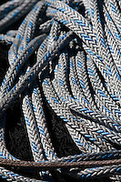 Rope detail. St. Paul Boat Harbor, Kodiak, Alaska