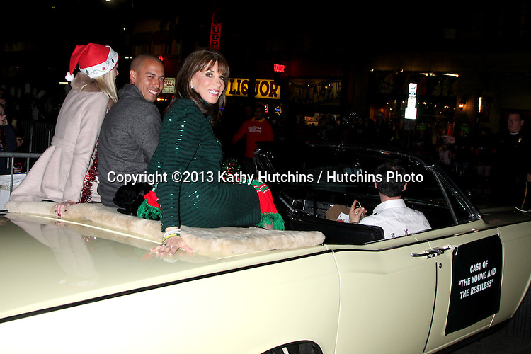 LOS ANGELES - DEC 1:  Kate Linder, Bryton James, Melissa Orday at the 2013 Hollywood Christmas Parade at Hollywood & Highland on December 1, 2013 in Los Angeles, CA