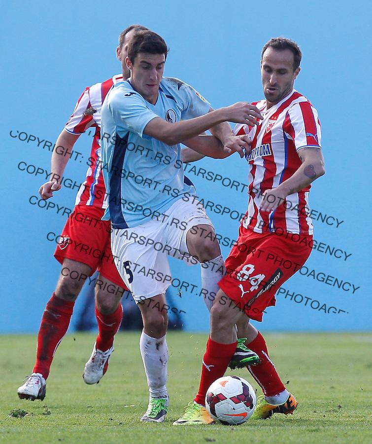 Fudbal Super liga season 2013-2014<br /> Rad v Crvena Zvezda<br /> Dragan Mrdja (R) and Milos Stanojevic<br /> Beograd, 10.11.2013.<br /> foto: Srdjan Stevanovic/Starsportphoto &copy;