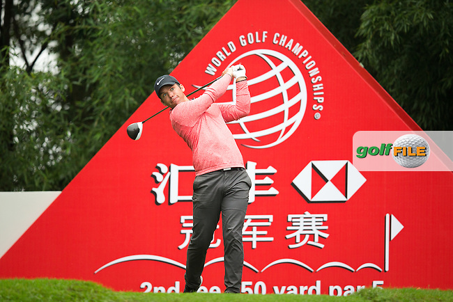 Paul Casey (ENG) on the 2nd tee during the 1st round of the  WGC-HSBC Champions, Sheshan International GC, Shanghai, China PR.  27/10/2016<br /> Picture: Golffile | Fran Caffrey<br /> <br /> <br /> All photo usage must carry mandatory copyright credit (&copy; Golffile | Fran Caffrey)