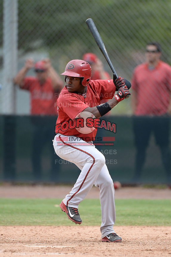 Arizona Diamondbacks second baseman Henry Castillo (8) during an Instructional League game against the Los Angeles Angels on October 7, 2014 at Salt River Fields at Talking Stick in Scottsdale, Arizona.  (Mike Janes/Four Seam Images)