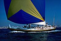 Semaine de Marseille 1976, Gitana VI, sloop en alu ponté en teck, construit en 1975 pour le baron Edmond de Rothschild