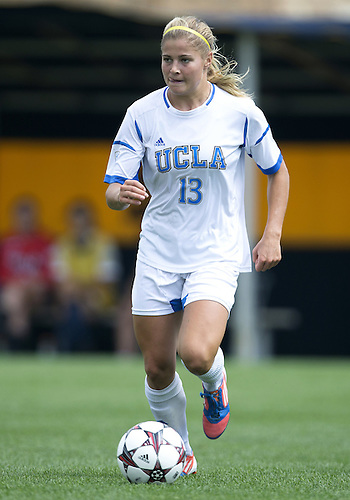 September 01, 2013:  UCLA forward Rosie White (13) advances the ball during NCAA Soccer match between the Notre Dame Fighting Irish and the UCLA Bruins at Alumni Stadium in South Bend, Indiana.  UCLA defeated Notre Dame 1-0.