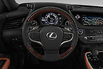 Car pictures of steering wheel view of a 2018 Lexus LS President 4wd 4 Door Sedan