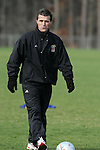 08 December 2005: Maryland head coach Sasho Cirovski during a practice session  at SAS Stadium in Cary, North Carolina in preparation for the NCAA Men's Division I College Cup semifinals to be played the following day.