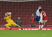 16/04/2018 Arsenal v Blackpool FAYC Semi 2L<br /> <br /> Craig Thordarson saves Bukayo Sako's shot