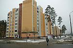 Ville de Slavutych, à 38 km du réacteur de Tchernobyl, Ukraine. Cette ville de 25000 habitants a été construite après l'explosion pour reloger les travailleurs de la centrale et les habitants de prypiat