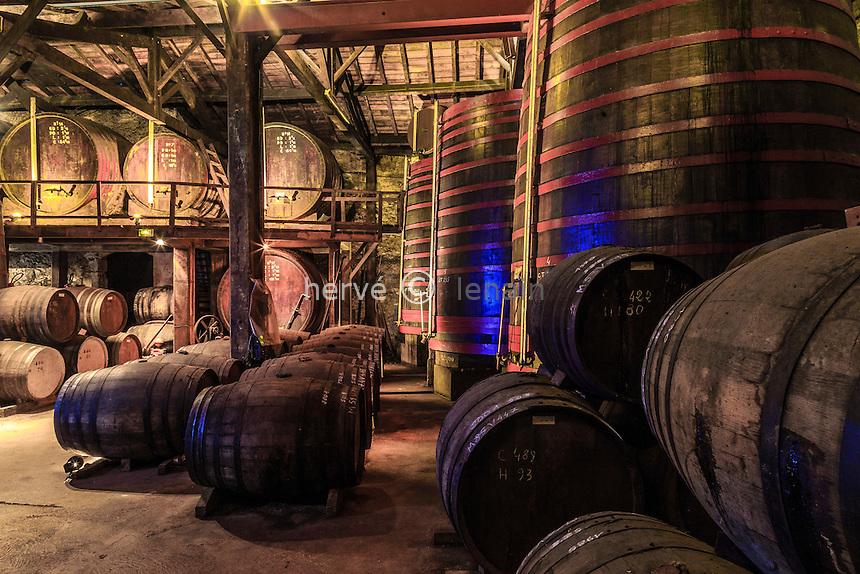 France, Gers (32), Condom, Château Cugnac, armagnac Ryst-Dupeyron, le chais // France, Gers,, condom, on the way to Saint Jacques de Compostela, Castle Cugnac, armagnac Ryst Dupeyron, cellar