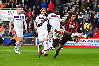 Kurt Zouma of Stoke City makes a great tackle as he takes the ball off the foot of Nathan Ake of AFC Bournemouth during AFC Bournemouth vs Stoke City, Premier League Football at the Vitality Stadium on 3rd February 2018