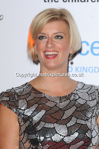 NON EXCLUSIVE PICTURE: PAUL TREADWAY / MATRIXPICTURES.CO.UK<br /> PLEASE CREDIT ALL USES<br /> <br /> WORLD RIGHTS<br /> <br /> English TV presenter Caroline Feraday attending the UNICEF Halloween Ball at London's One Mayfair.<br /> <br /> OCTOBER 31st 2013<br /> <br /> REF: PTY 137081