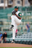 Fort Wayne TinCaps starting pitcher Austin Smith (9) delivers a pitch during the second game of a doubleheader against the Great Lakes Loons on May 11, 2016 at Parkview Field in Fort Wayne, Indiana.  Great Lakes defeated Fort Wayne 5-0.  (Mike Janes/Four Seam Images)