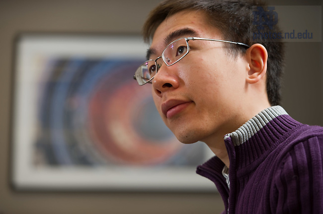 Feb. 20, 2012; Physics graduate students in class...Photo by Matt Cashore/University of Notre Dame