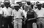 Leaders at head of march long route of 2nd Meredith March Against Fear through Mississippi photographed by Jim Peppler for essay published in The Southern Courier on June 25, 1966. Photo copyrighted Jim Peppler/1966. ..This and over 10,000 other images are part of the Jim Peppler Collection at The Alabama Department of Archives and History:  http://digital.archives.alabama.gov/cdm4/peppler.php