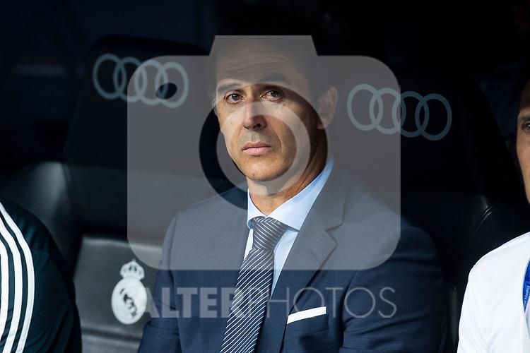 Real Madrid coach Julen Lopetegui during Santiago Bernabeu Trophy match at Santiago Bernabeu Stadium in Madrid, Spain. August 11, 2018. (ALTERPHOTOS/Borja B.Hojas)