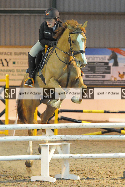 Class 9. Unaffiliated showjumping. Brook Farm Training Centre. Essex. UK. 27/01/2019. ~ MANDATORY Credit Garry Bowden/Sportinpictures - NO UNAUTHORISED USE - 07837 394578