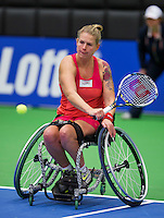 December 16, 2014, Rotterdam, Topsport Centrum, Lotto NK Tennis, Michaela Spaanstra (NED)<br /> Photo: Tennisimages/Henk Koster