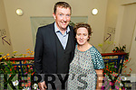 Maura and Tommy Sheehy at the launch of the Gowns of Glory Rose of Tralee dresses through the years in the Kerry County Museum on Friday.