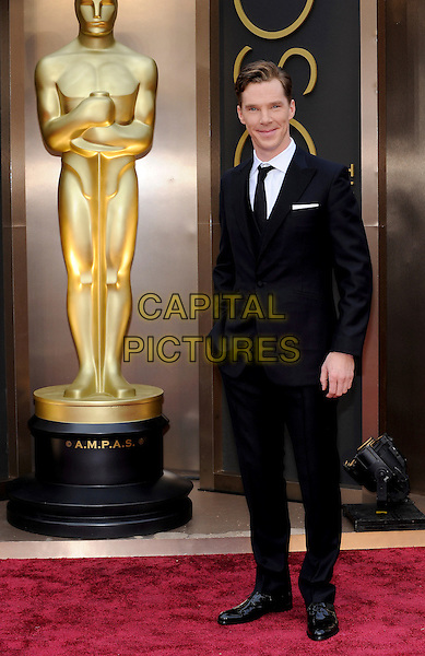 HOLLYWOOD, CA - MARCH 2: Benedict Cumberbatch arriving to the 2014 Oscars at the Hollywood and Highland Center in Hollywood, California. March 2, 2014.  <br /> CAP/MPI/mpi99<br /> &copy;mpi99/MediaPunch/Capital Pictures