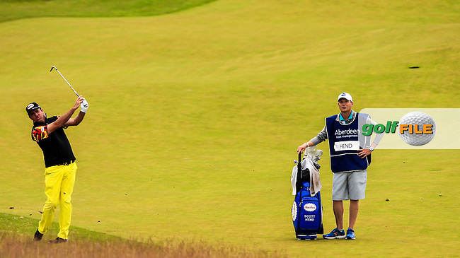 Scott Hend (AUS) on the 9th during round 3 of the Aberdeen Asset Management Scottish Open 2016, Castle Stuart  Golf links, Inverness, Scotland. 09/07/2016.<br /> Picture Fran Caffrey / Golffile.ie<br /> <br /> All photo usage must carry mandatory copyright credit (&copy; Golffile | Fran Caffrey)