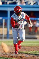 June 22, 2009:  Leandro Castro of the Williamsport Crosscutters during a game at Dwyer Stadium in Batavia, NY.  The Crosscutters are the NY-Penn League Short-Season Single-A affiliate of the Philadelphia Phillies.  Photo by:  Mike Janes/Four Seam Images