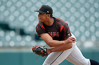 Indianapolis Indians pitcher Jesus Liranzo (19) during an International League game against the Buffalo Bisons on June 20, 2019 at Sahlen Field in Buffalo, New York.  Buffalo defeated Indianapolis 11-8  (Mike Janes/Four Seam Images)