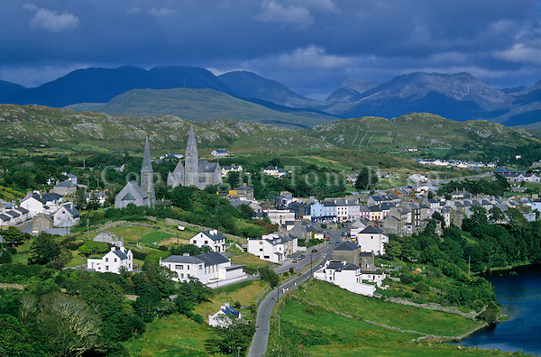 Seaside village of Clifden, Connemara District, County Galway, Ireland, AGPix_0137 .