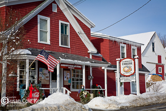 Country store in Sugar Hill, White Mountain region, NH