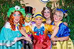 Dame Gepetto Declan Mangan, Jimmy Crickett Irene Kavanagh, Pinocchio Shona Murphy,  Wonder Woman Bronagh Murphy and Geraldine O'Sullivan Chorus Girl at their performance of Pinocchio in Killorglin CYMS on Saturday
