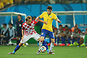 (L to R) <br /> Ivan Rakitic (CRO), <br /> Oscar (BRA), <br /> JUNE 12, 2014 - Football /Soccer : <br /> 2014 FIFA World Cup Brazil <br /> Group Match -Group A- <br /> between Brazil 3-1 Croatia <br /> at Arena de Sao Paulo, Sao Paulo, Brazil. <br /> (Photo by YUTAKA/AFLO SPORT)