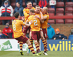 31.3.2018: Motherwell v Rangers: <br /> Alan Campbell celebfrates his goal for Motherwell