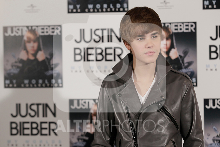MADRID (29/11/2010).- Justin Bieber golden record with his album 'My worlds', photocall at Urban Hotel in Madrid...Photo: MAC / ALFAQUI