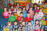 Rainbow Creche Glenbeigh celebrates receiving EUR20,000 grant from the OMC on Tuesday front row l-r: Cara Moriarty, Bartkomet Zklingiski, Danny Coffey, Aaron Griffin, Roisin Smith. Middle row: Eoin McCarthy, Luka Counihan, Keilen O'Sullivan, Kayla Sheahan, Orlaith Burke. Back row: E?adoin O'Sullivan, Robyn Griffin, Danielle Griffin, Sinead King, Lorraine O'Shea, Leah Morris, Saffron Marriott, Aby Sheehan, Kacey O'Connor, Theresa Burke, Hollie Clifford