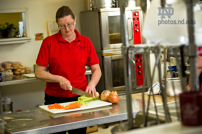 Brenda Markin, owner of the State Cafe in South Bend, for MCOB Business Magazine..Photo by Matt Cashore/University of Notre Dame