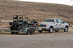 Ford Extended Cab towing ATV