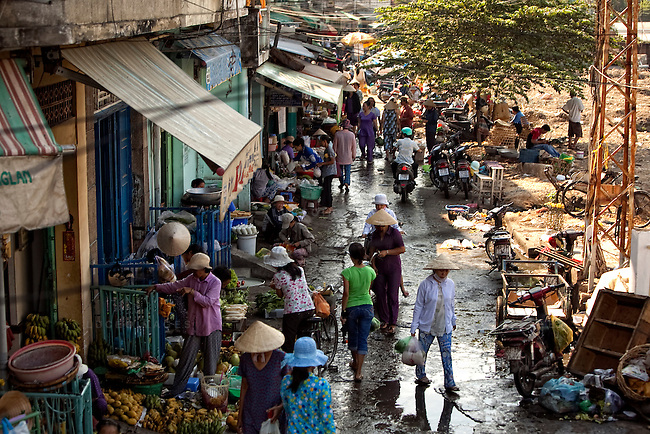 Vietnamese shop at a market in Ho Chi Minh City...Kevin German / LUCEO