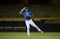 AZL Cubs 2 shortstop Luis Verdugo (18) throws to first base during an Arizona League game against the AZL Rangers at Sloan Park on July 7, 2018 in Mesa, Arizona. AZL Rangers defeated AZL Cubs 2 11-2. (Zachary Lucy/Four Seam Images)